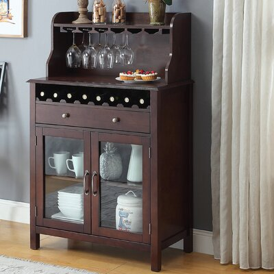 Dishon Bar Cabinet Finish: Walnut