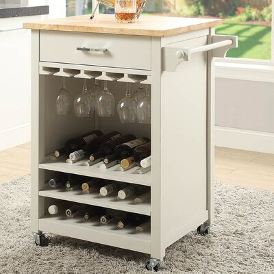 Moorman Bar Cabinet Color: White