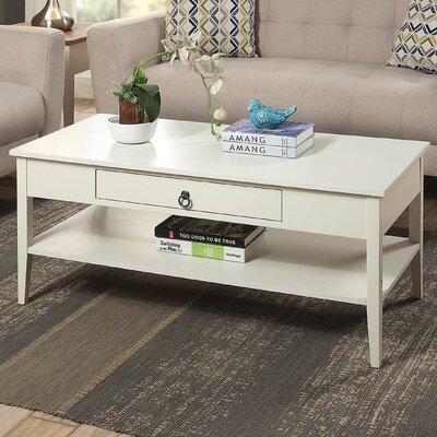 Clair Coffee Table Color: white