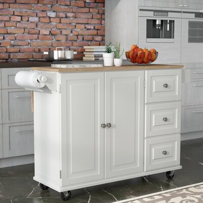 Kuhnhenn Kitchen Island Base Finish: White