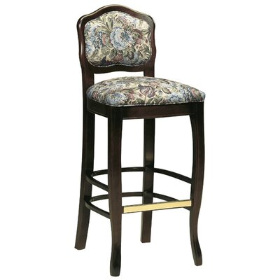 31 Bar Stool Upholstery Color: Partner Black, Frame Color: Kensington Maple