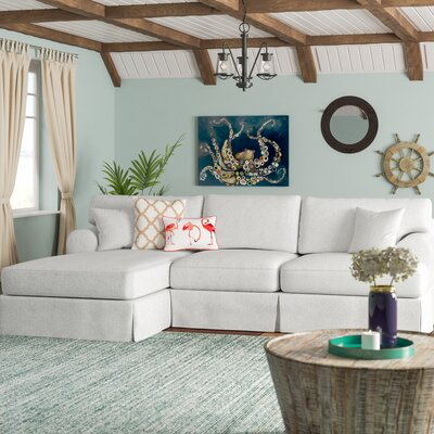 Jacqueline Sectional Upholstery: White, Orientation: Left Hand Facing