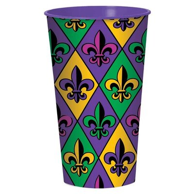 Fleur de Lis Large 32 oz. Plastic Everyday Cup 420141