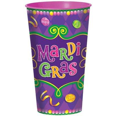Mardi Gras Large 32 oz. Plastic Everyday Cup 423505