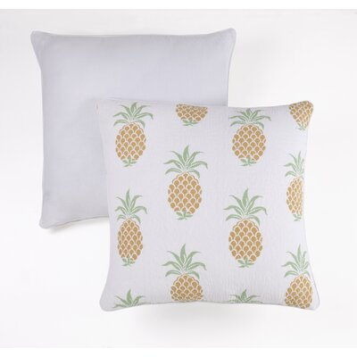 Pineapple Indoor/Outdoor Cotton Throw Pillow