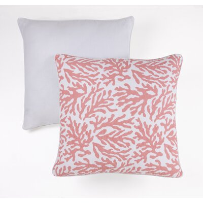 Coral Indoor/Outdoor Cotton Throw Pillow