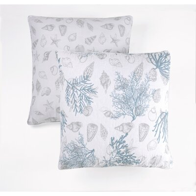 Ocean Forest Indoor/Outdoor Cotton Throw Pillow