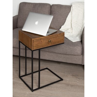 Demarcus Wood End Table