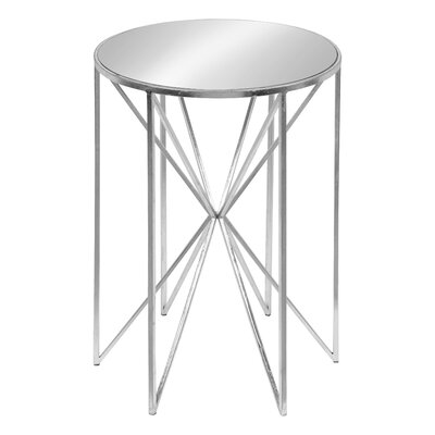 Petrucci Round Mirrored Metal End Table