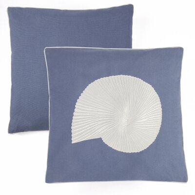Nautilus Embroider Indoor/Outdoor Cotton Throw Pillow