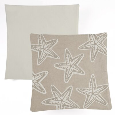 Starfish Embroidered Indoor/Outdoor Cotton Throw Pillow