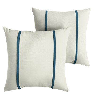 Hollifield Sunbrella Indoor/Outdoor Throw Pillow Size: 22 x 22