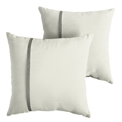 Forshee Sunbrella Indoor/Outdoor Throw Pillow Size: 18 x 18
