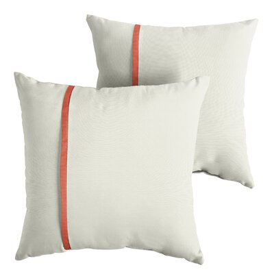 Hollon Sunbrella Indoor/Outdoor Throw Pillow Size: 22 x 22