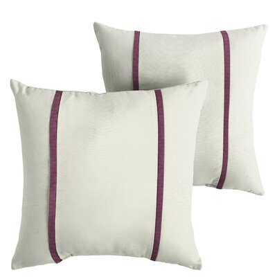 Hollowell Sunbrella Indoor/Outdoor Throw Pillow Size: 22 x 22