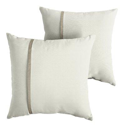 Foshee Sunbrella Indoor/Outdoor Throw Pillow Size: 18 x 18