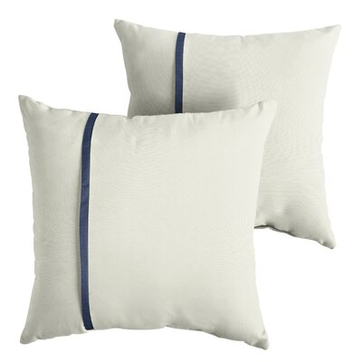 Fossen Sunbrella Indoor/Outdoor Throw Pillow Size: 22 x 22