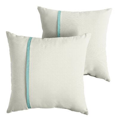 Forde Sunbrella Indoor/Outdoor Throw Pillow Size: 22 x 22