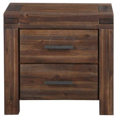 Resch Rustic 2 Drawer Nightstand