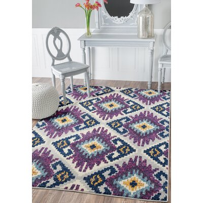 Dietz Plum Area Rug Rug Size: Rectangle 126 x 15