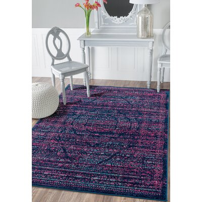 Didomenico Midnight Blue Area Rug Rug Size: Rectangle 53 x 72