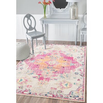 Diemer Magenta Area Rug Rug Size: Rectangle 126 x 15
