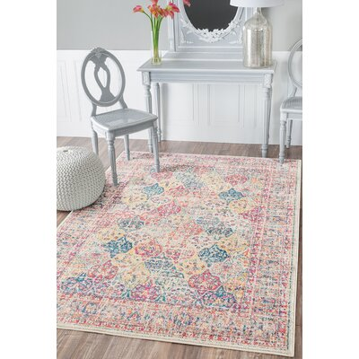 Dierking Yellow Area Rug Rug Size: Rectangle 53 x 72