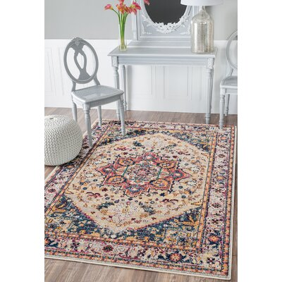 Dietz Cream Area Rug Rug Size: Runner 27 x 72