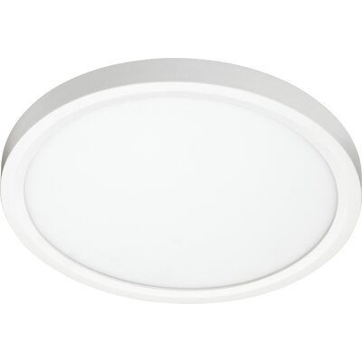 Juno 1-Light LED Flush Mount Size: 0.73 H x 11.08 W x 11.08 D