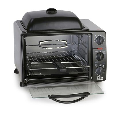 0.8 Cu. Ft. Cuisine Toaster Oven with Rotisserie and Grill/Griddle Top ERO-2008S
