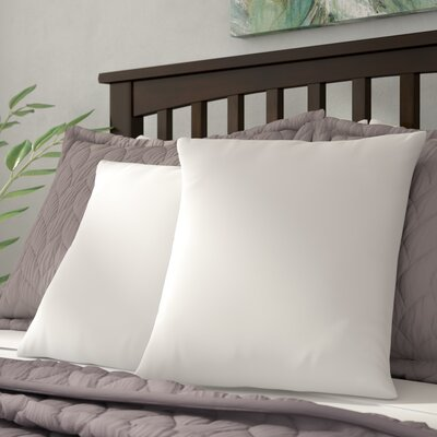 White Super Soft Pillow Insert with Protectors Size: 26 H x 26 W