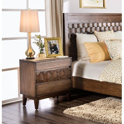 Keefe 3 Drawer Nightstand