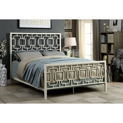 Orona Contemporary Panel Bed Color: White, Size: California King