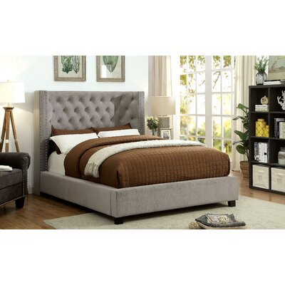 Mcduffy Wingback Upholstered Panel Bed