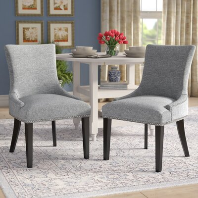 Enfield Upholstered Dining Chair Upholstery Color: Light Gray