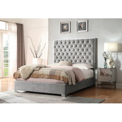 Lansford Upholstered Panel Bed Size: Queen