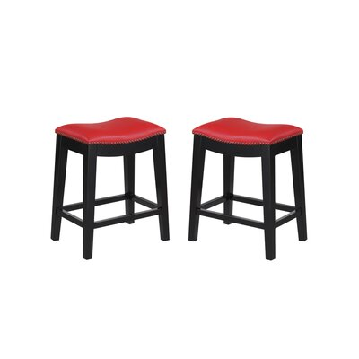 Bagshaw 24 Bar Stool Color: Red