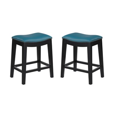 Bagshaw 24 Bar Stool Color: Teal