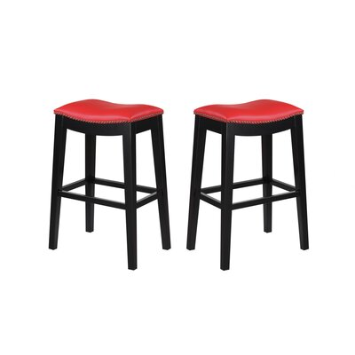 Bagshaw  30 Bar Stool Color: Red
