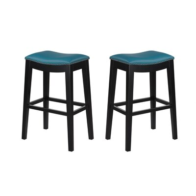 Bagshaw  30 Bar Stool Color: Teal