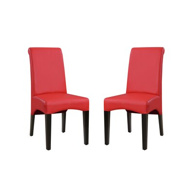 Bagshaw Upholstered Dining Chair Upholstery Color: Red