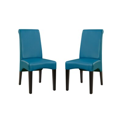 Bagshaw Upholstered Dining Chair Upholstery Color: Teal