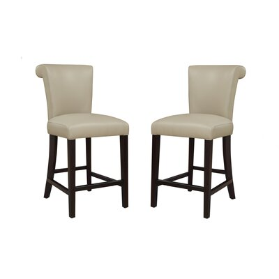 Crabb 24 Bar Stool Color: Taupe