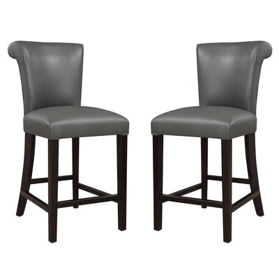 Crabb 24 Bar Stool Color: Gray