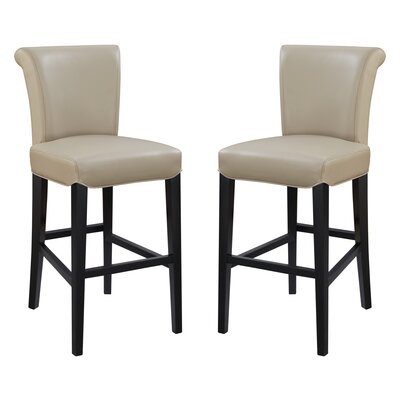 Crabb 30 Bar Stool Color: Taupe