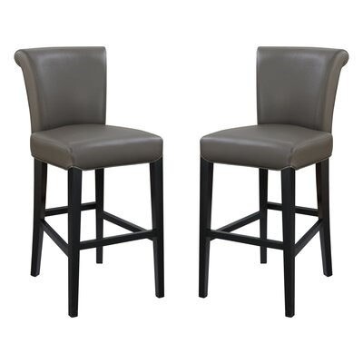 Crabb 30 Bar Stool Color: Gray
