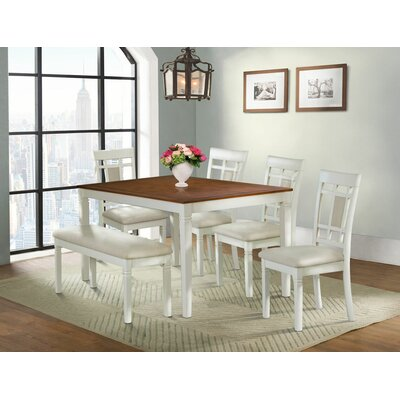 Hillside Avenue 6 Piece Breakfast Nook Dining Set