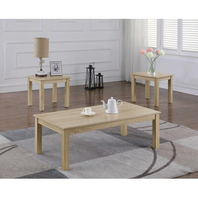 Mauzy 3 Piece Coffee Table Set Color: Sand