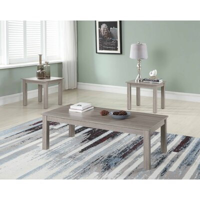 Mauzy 3 Piece Coffee Table Set Color: Light Gray