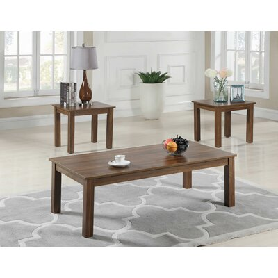 Mauzy 3 Piece Coffee Table Set Color: Brown